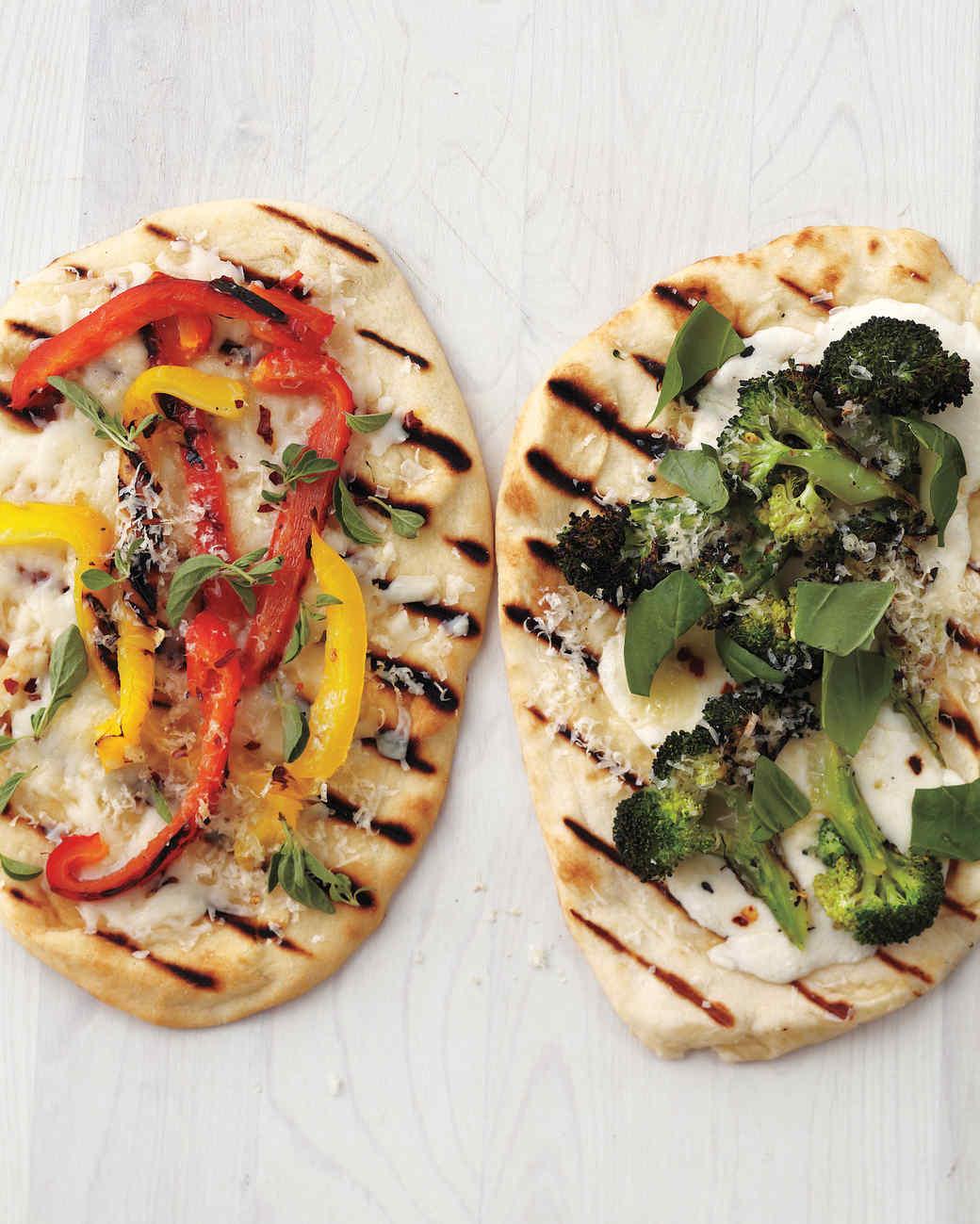Pepper-Provolone Flatbread Pizzas