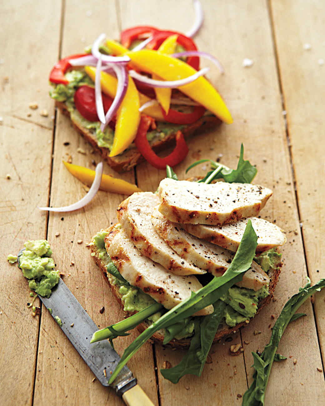 Grilled Chicken with Mango, Bell Pepper, and Avocado