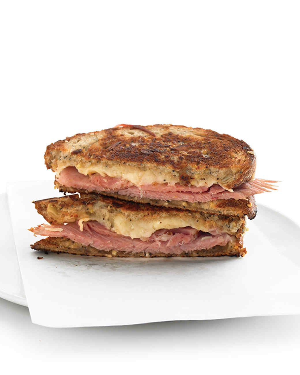 Grilled Ham-and-Cheese Sandwiches