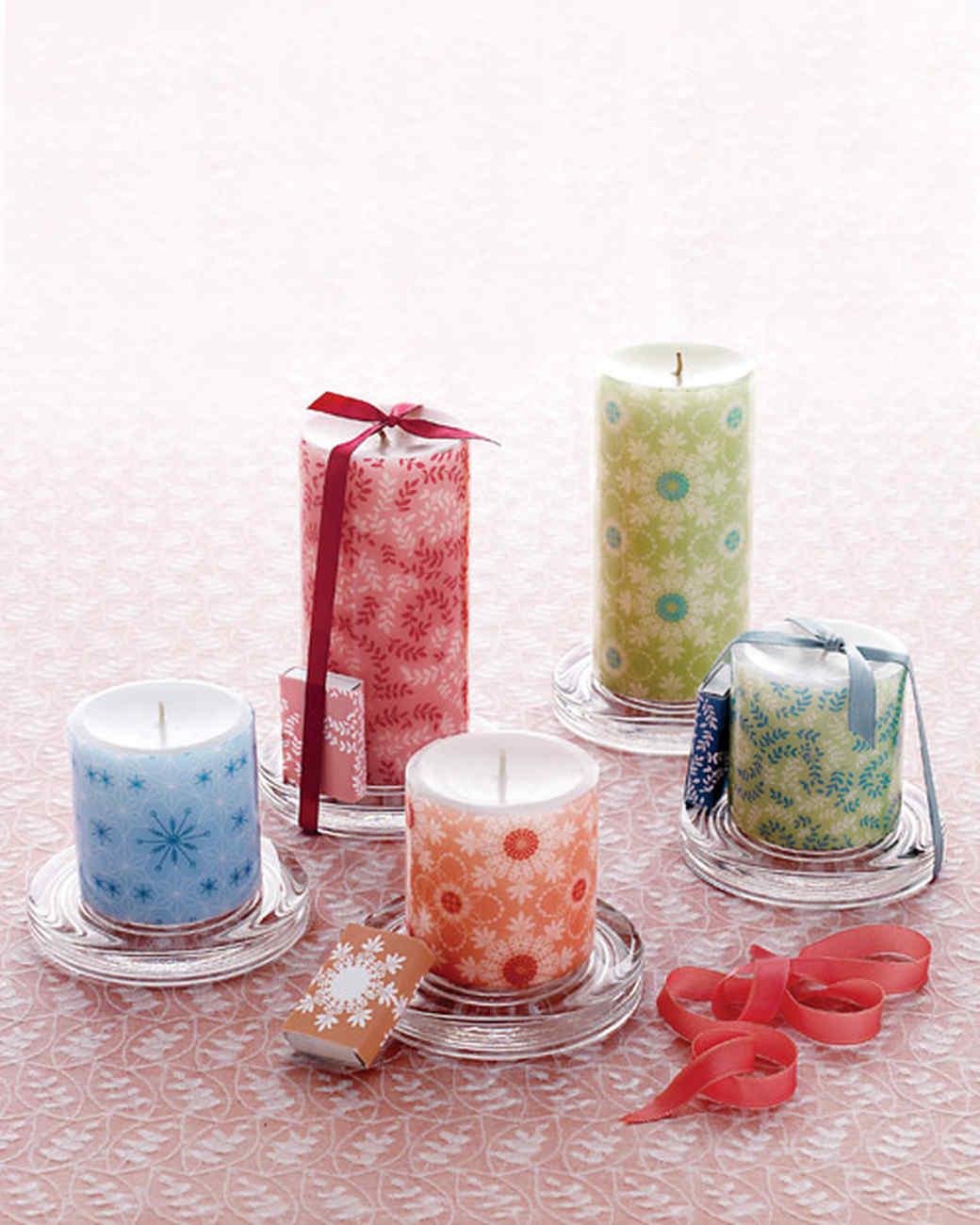 Candle Decoration Part - 24: Decorative Decal Pillar Candles