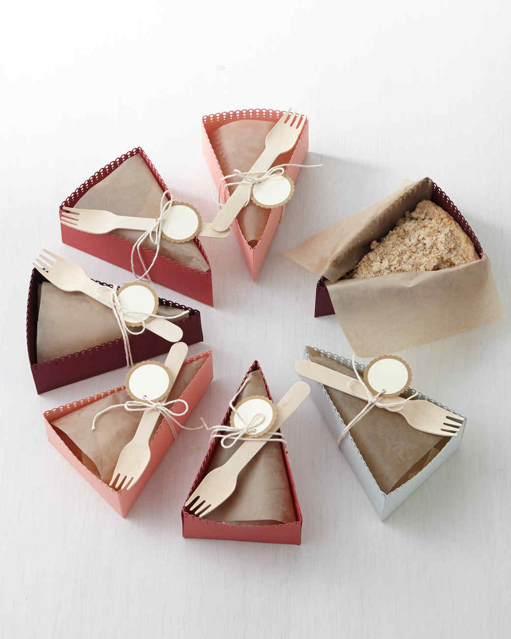 DIY Paper Pie Slice Boxes Martha Stewart