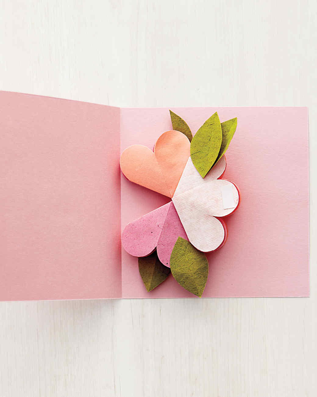 bouquet of flowers pop up card template