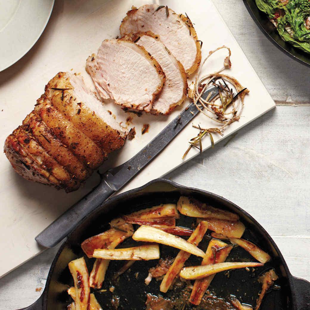 Pork Roast with Caramelized Parsnips