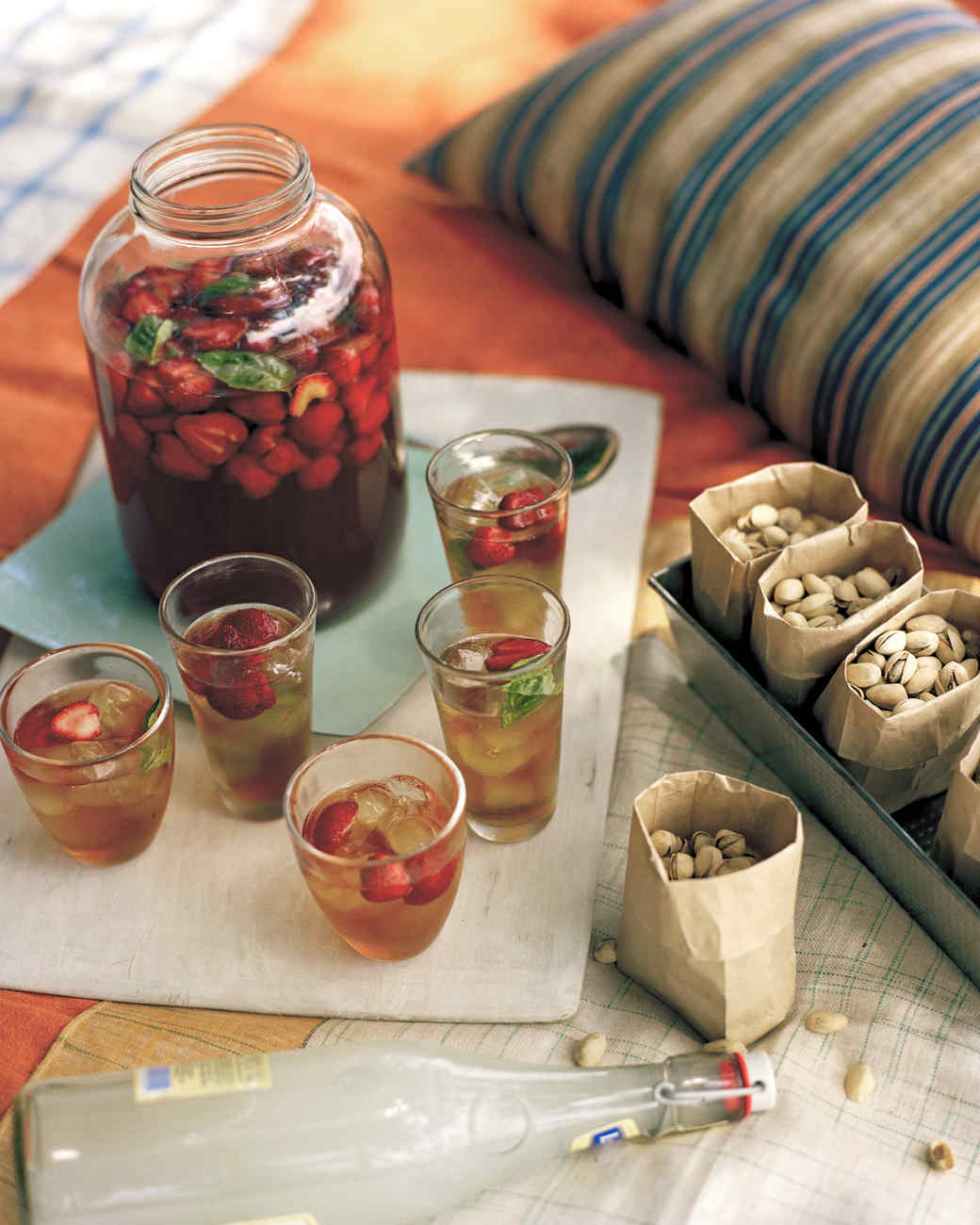 Strawberry-Basil Iced Tea