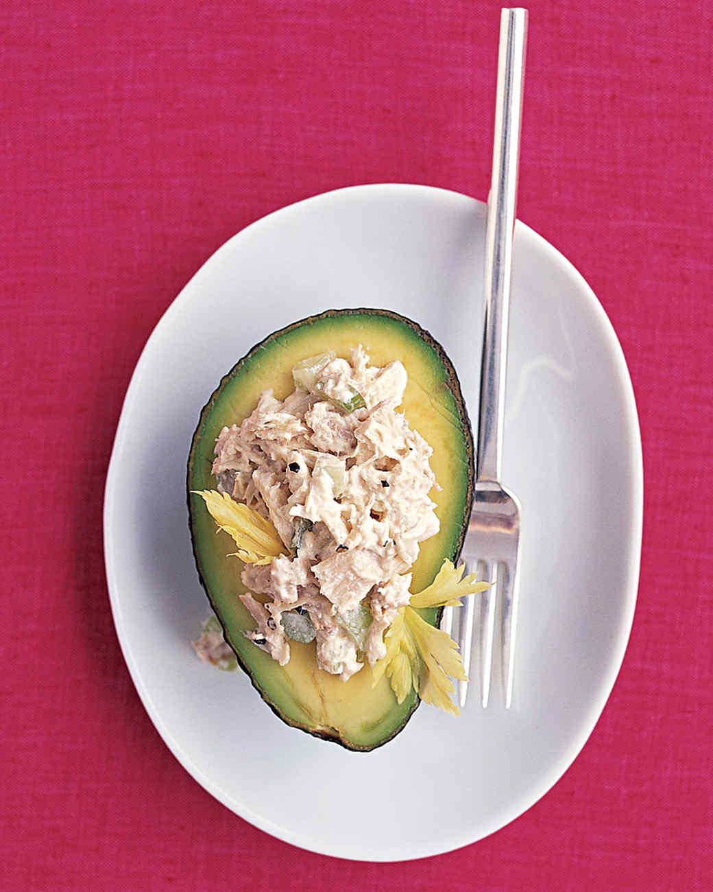 Tuna Salad in Avocado Halves