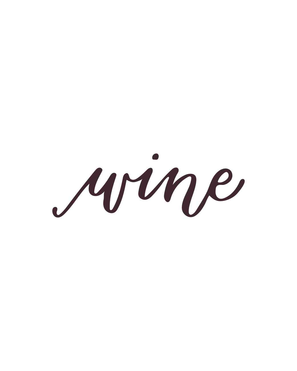 """wine"" calligraphy"