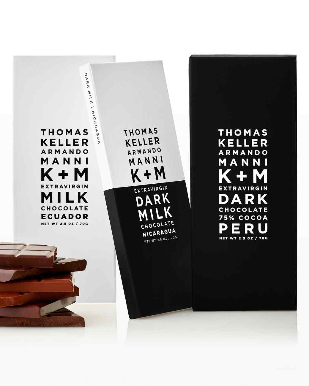 K+M chocolate bars