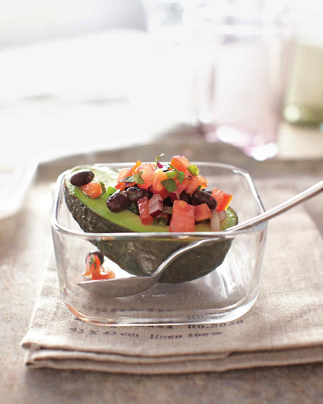 Avocado with Black Bean Salsa