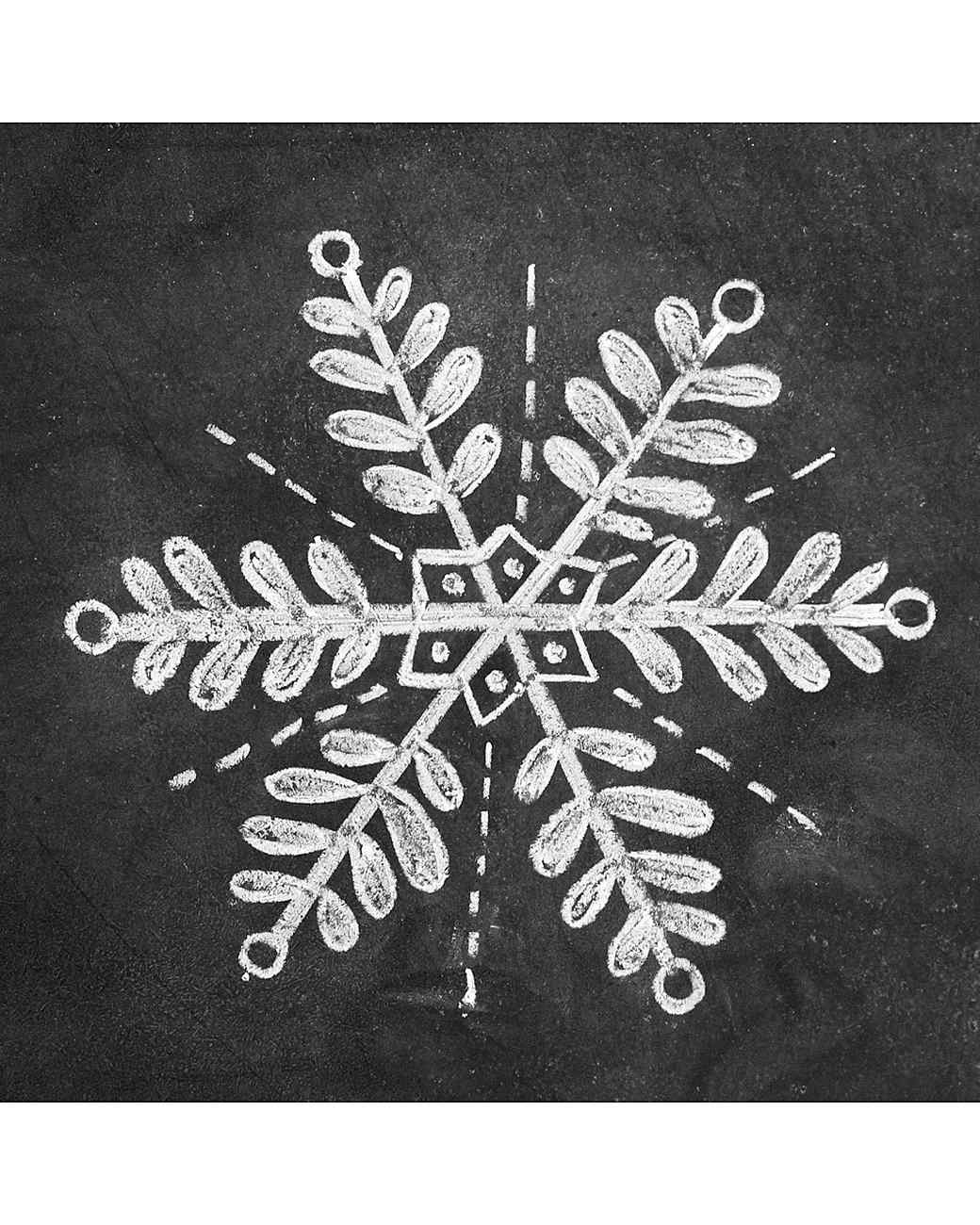 How to Draw Elegant Snowflake Chalk-Art | Martha Stewart