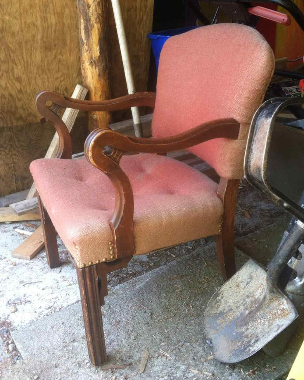 See A Pair Of Dingy, Old Chairs Get Gorgeously Reupholstered For Less Than  $50 | Martha Stewart