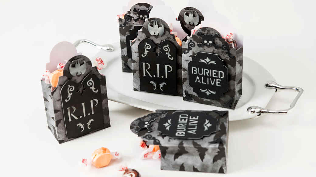 halloween tombstone party favors