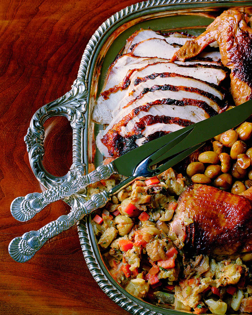 Roast Turkey with Cornbread Stuffing