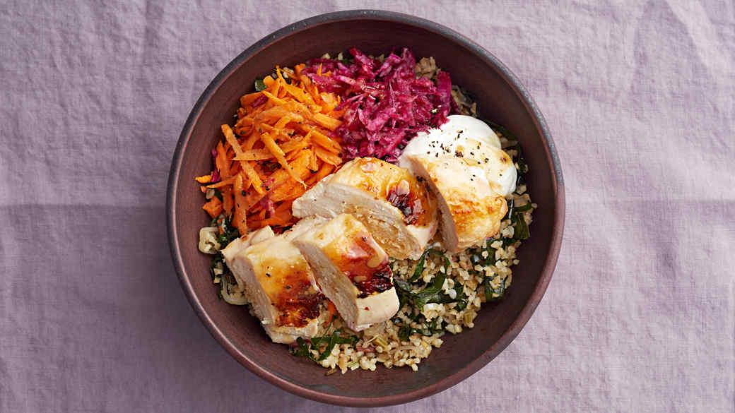 Roast-Chicken Grain Bowl