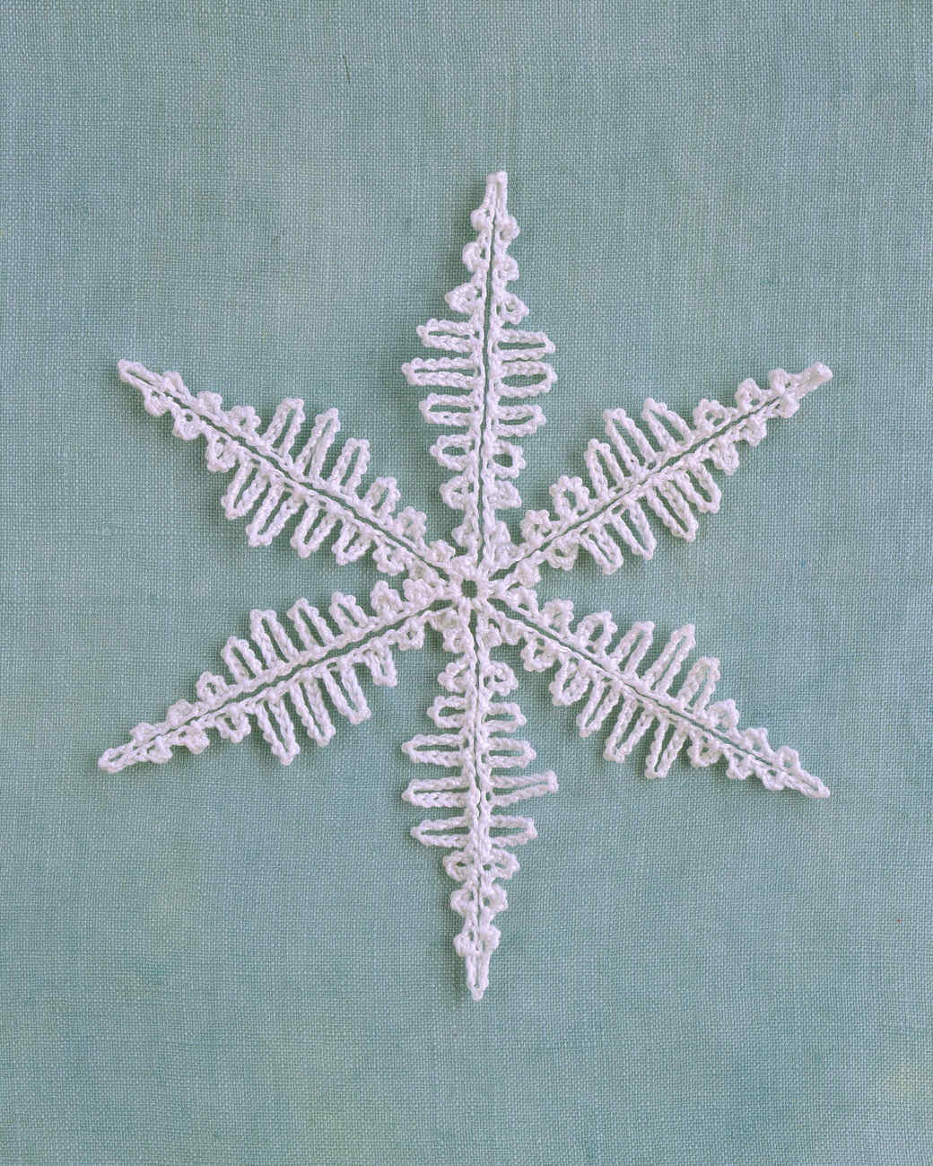 crocheted snowflake