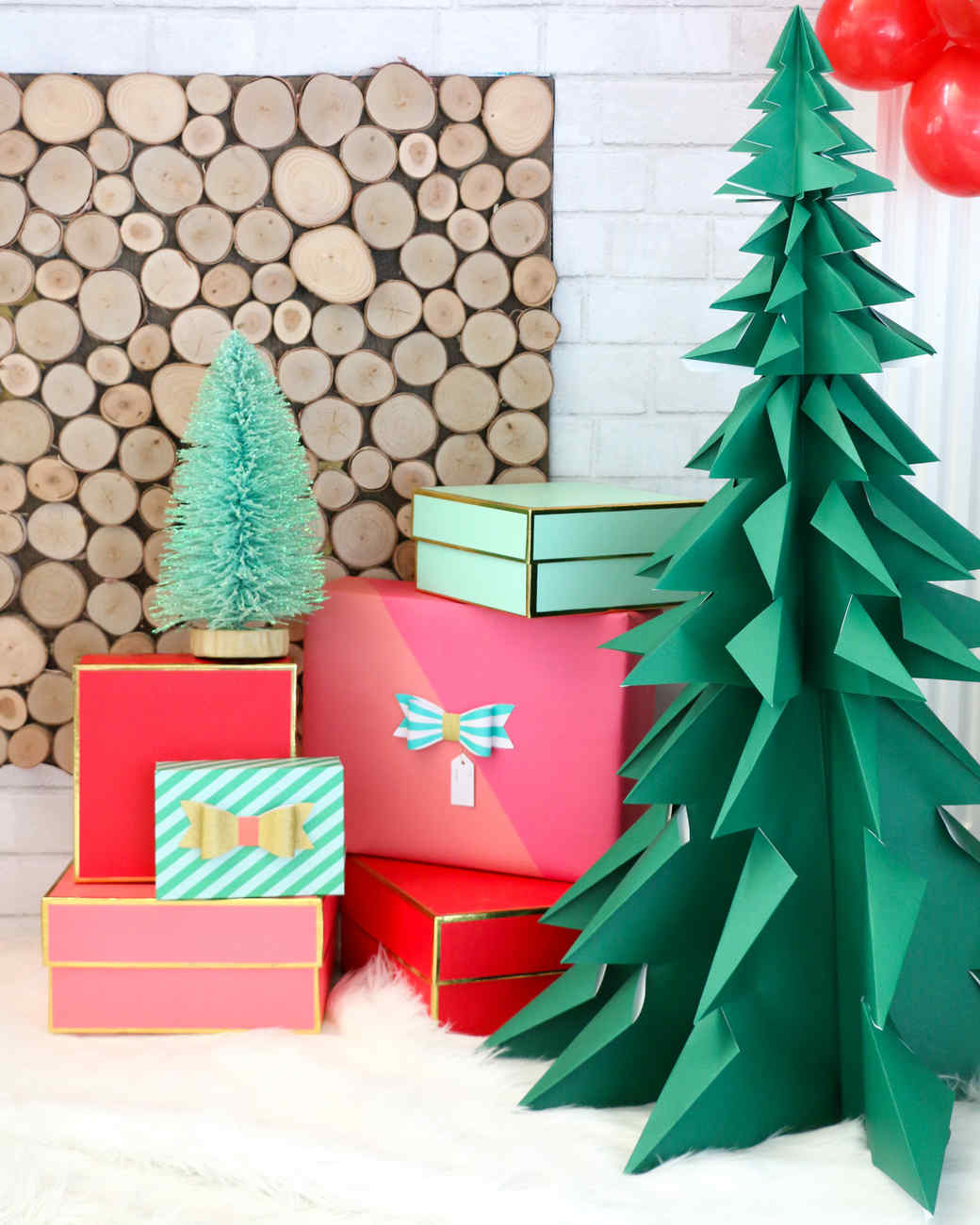 How to make paper cardboard trees 3d christmas
