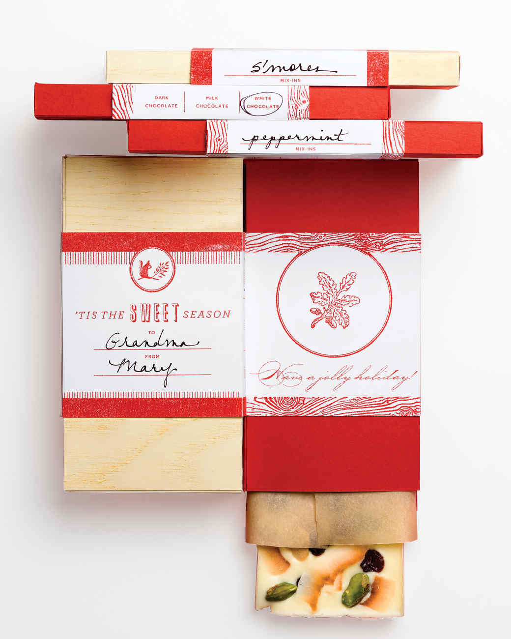 Candy packaging ideas martha stewart bark bars box templates and bands negle Gallery