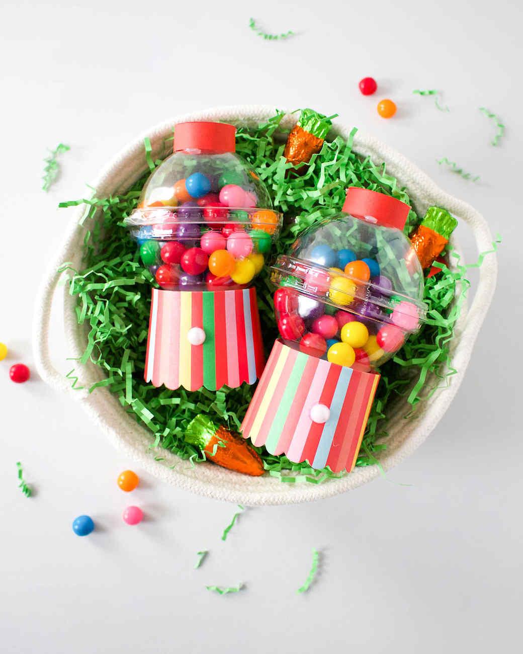 mini gum ball machine party favor basket