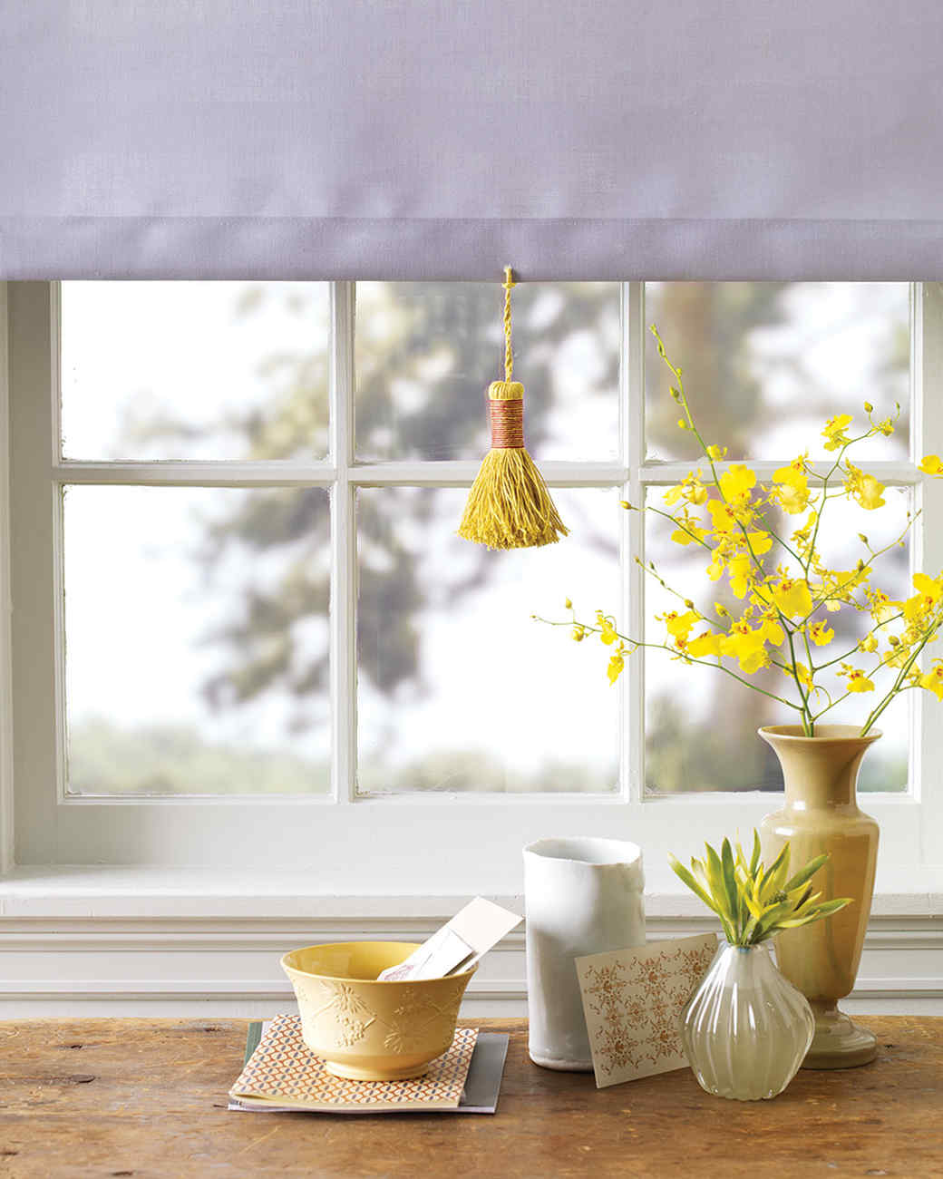 Roller Shade with Twisted-Cord Tassel Pull
