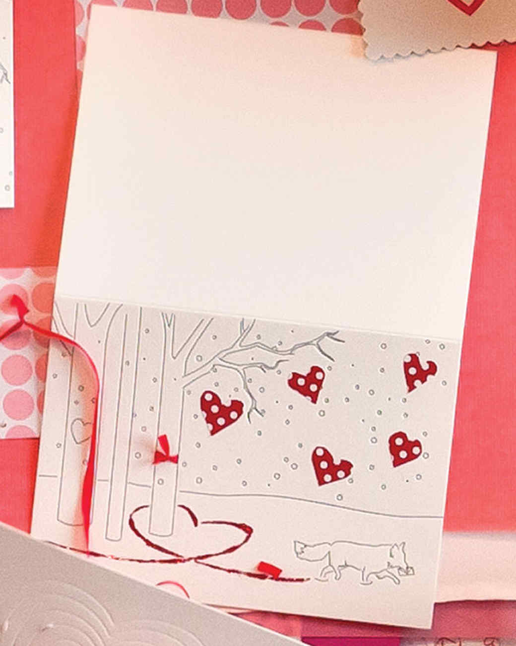 Paw Prints in the Snow Valentine's Day Card