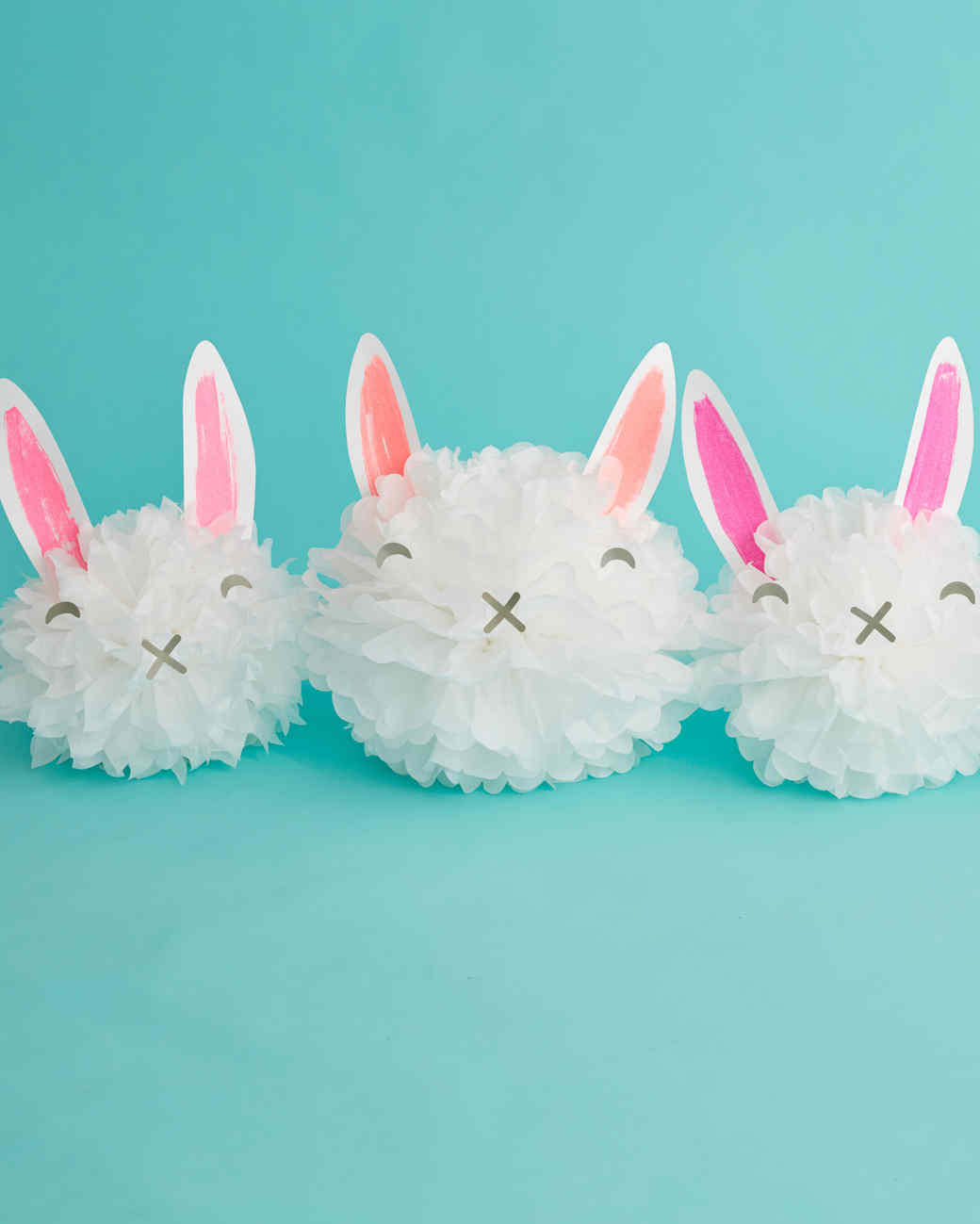 How to Make Easter Bunny Pom-Pom Decorations