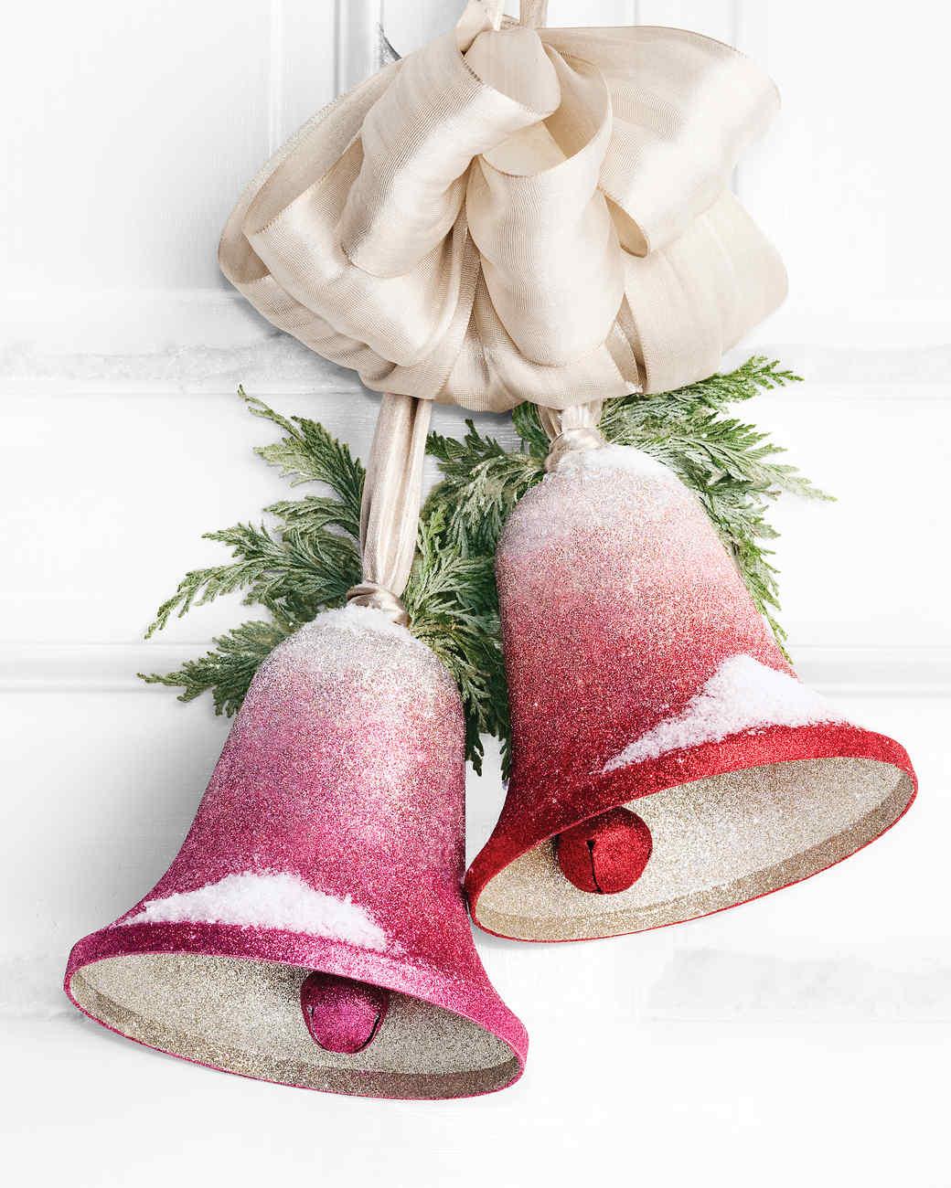 glittered christmas crafts martha stewart