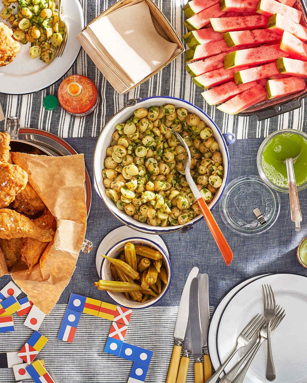 all-american picnic spread