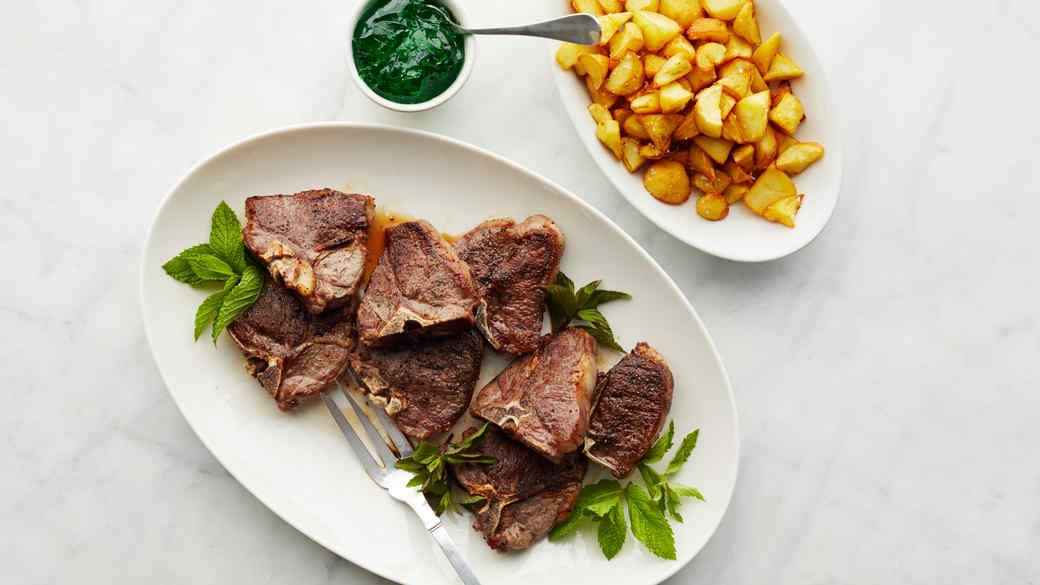 Seared Lamb Loin Chops