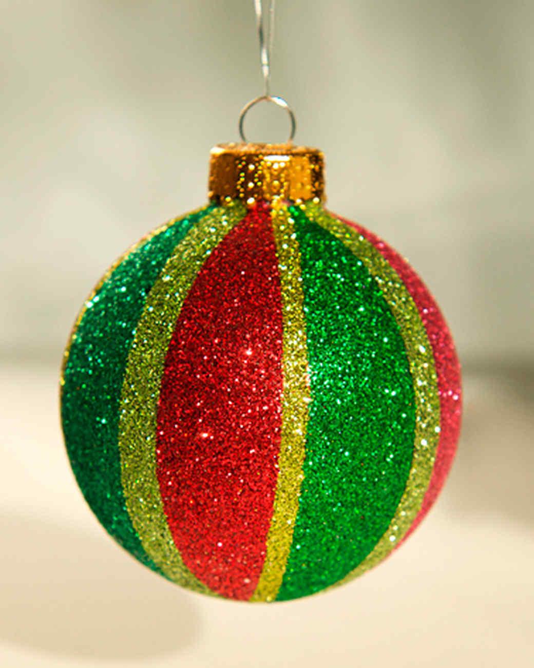 Glittered ornaments video martha stewart