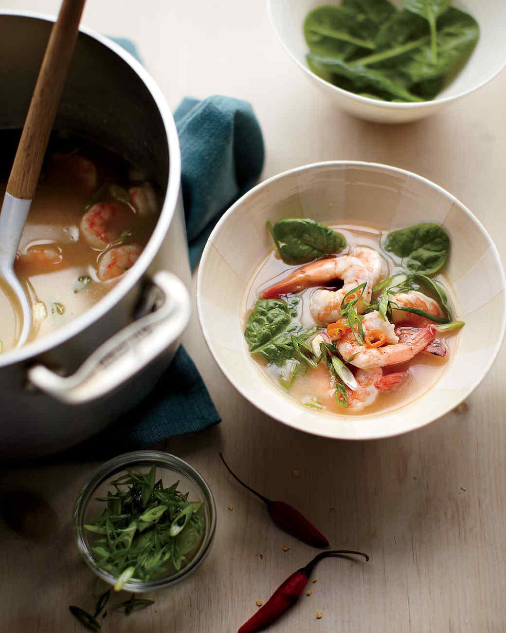 Spicy Peanut-Shrimp Soup
