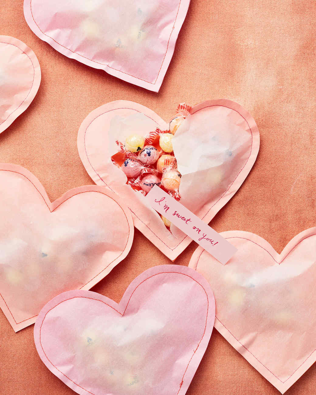 parchment paper heart craft