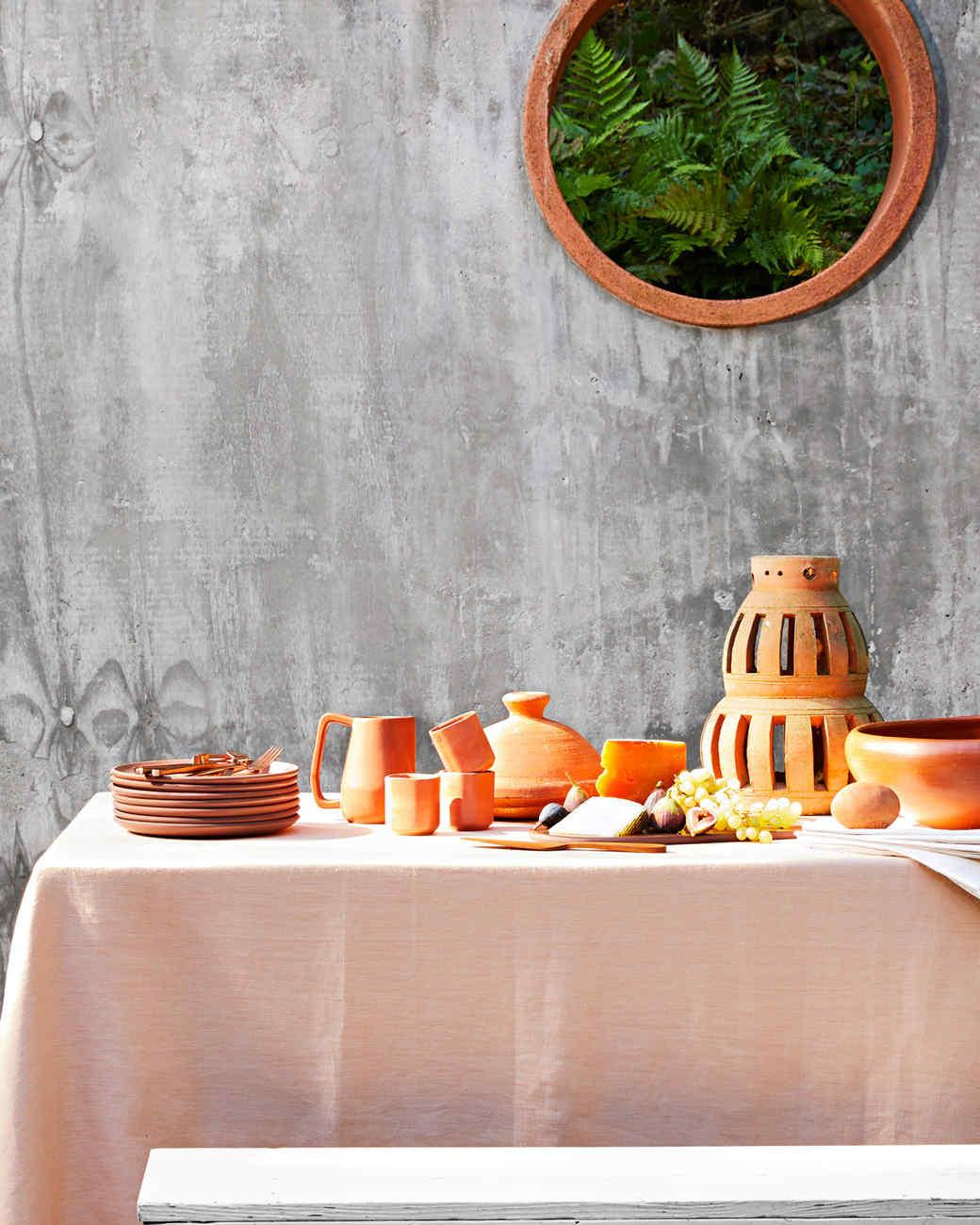 terracotta tableware