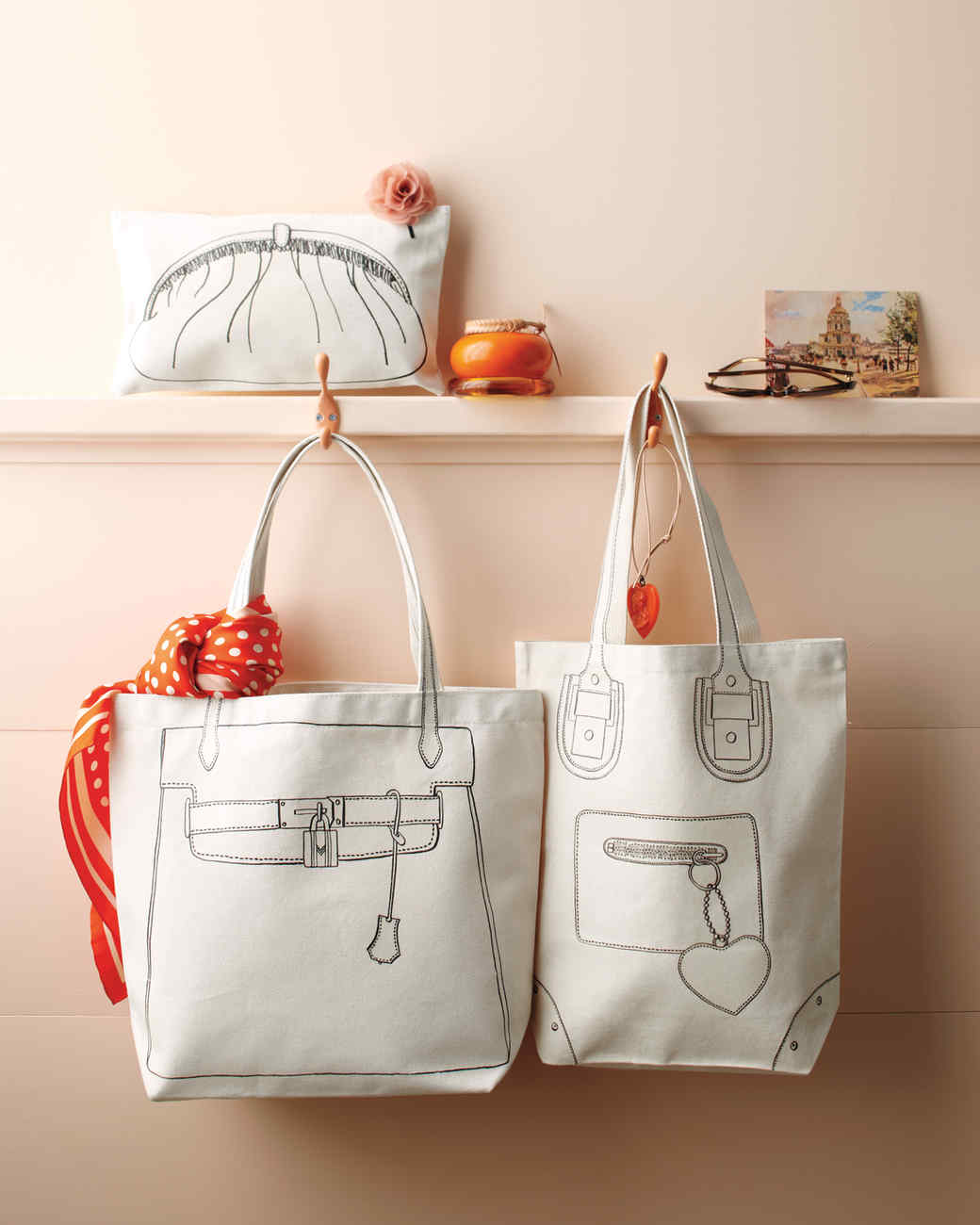 Trompe L'oeil Tote Bags and Pouch