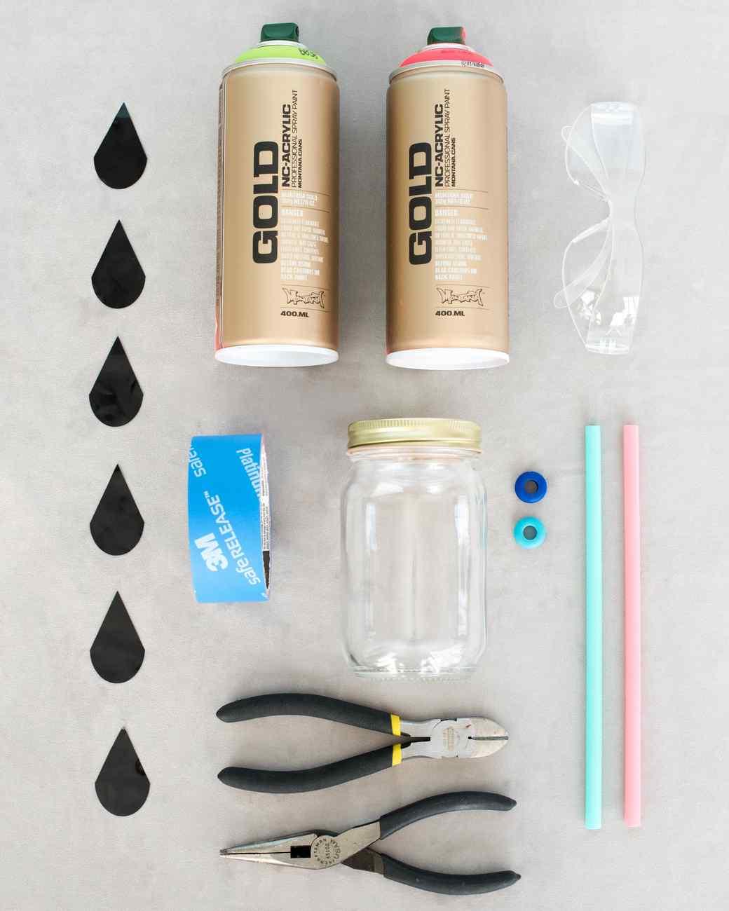 mason jar cup supplies