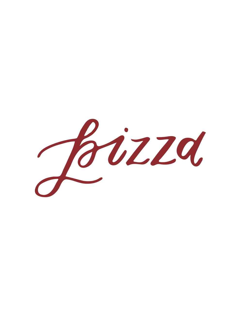 """pizza"" calligraphy"