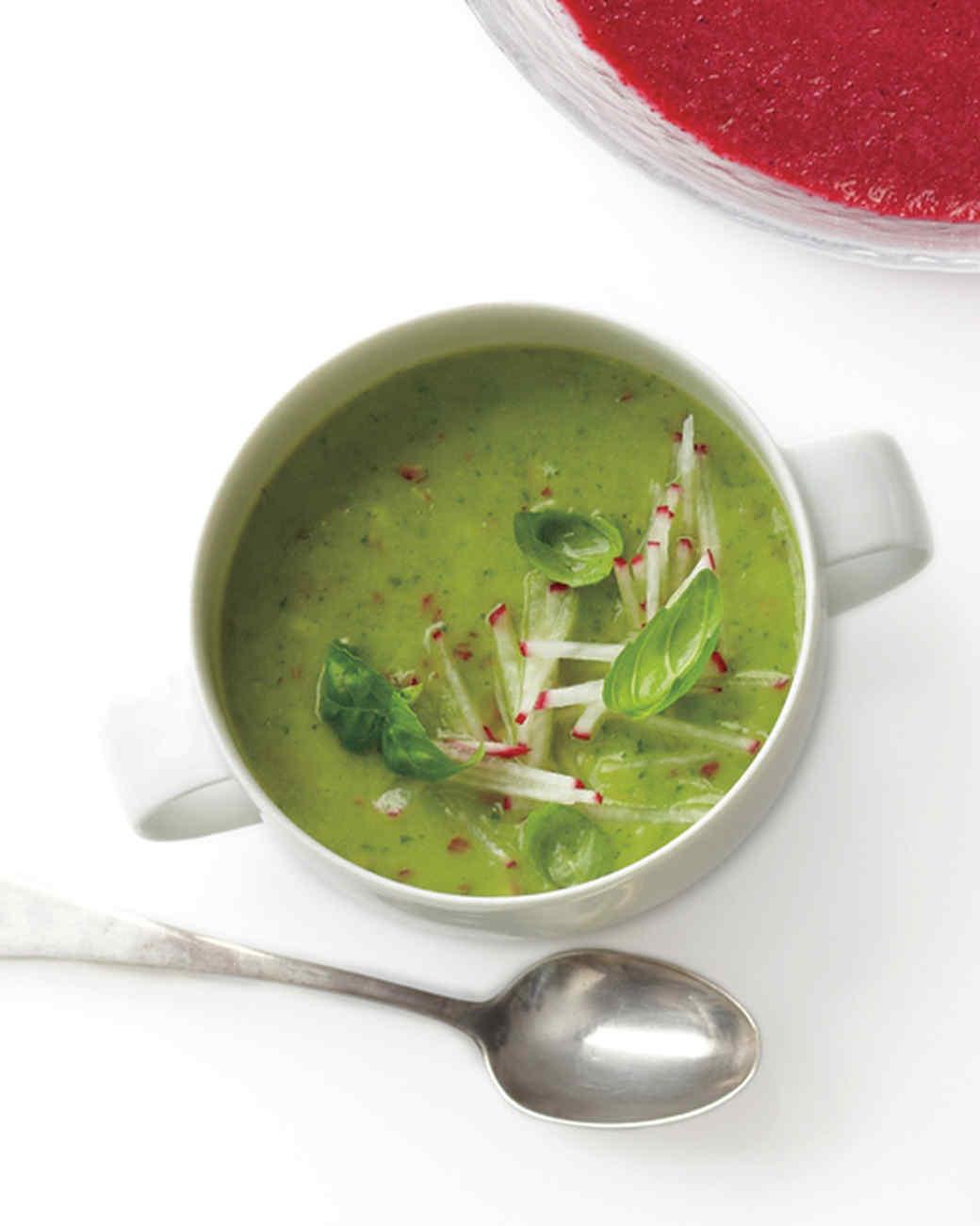 Avocado, Radish, and Basil Soup