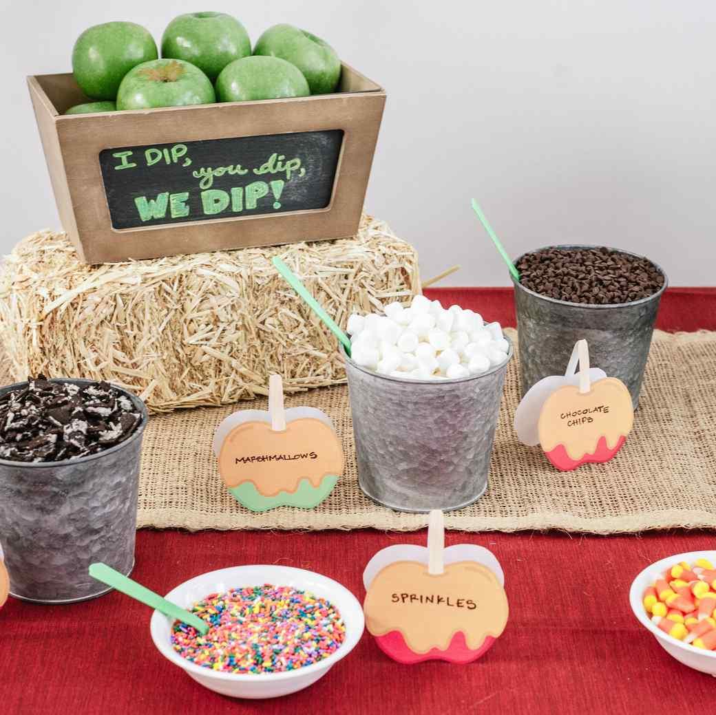 Celebrate Fall With A Dip Your Own Caramel Apple Dessert Bar Martha Stewart