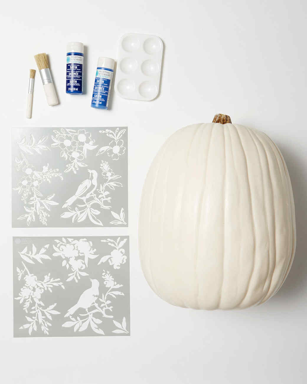 chinoiserie pumpkins materials