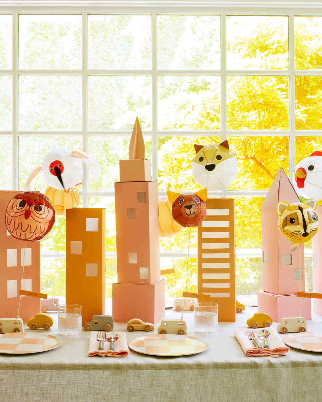 cityscape centerpiece for a kids table