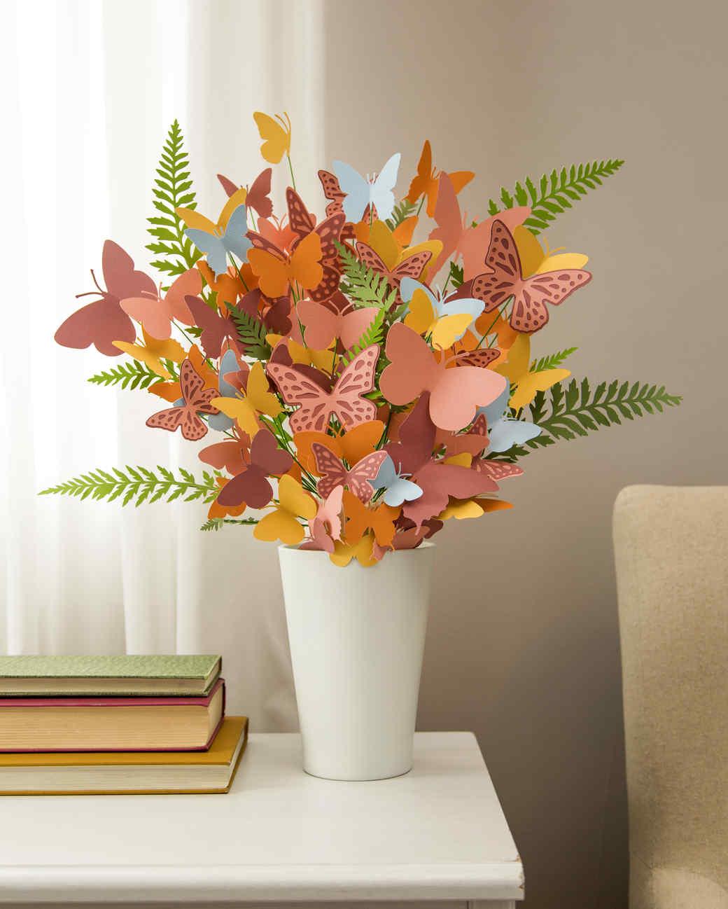 cricut colorful butterfly bouquet
