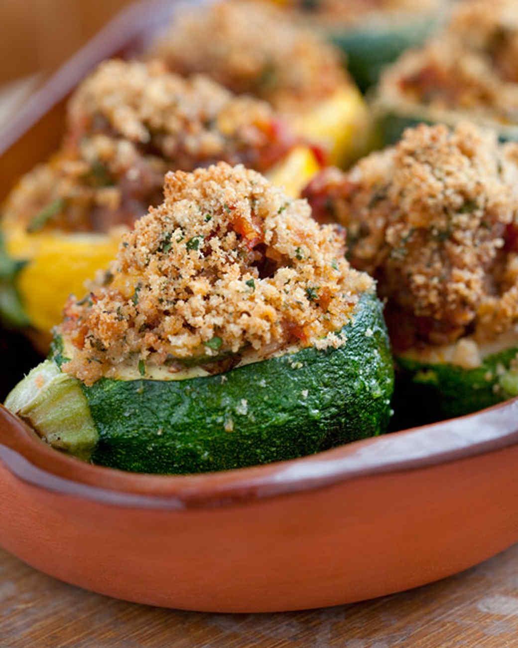 Provencal-Style Stuffed Zucchini