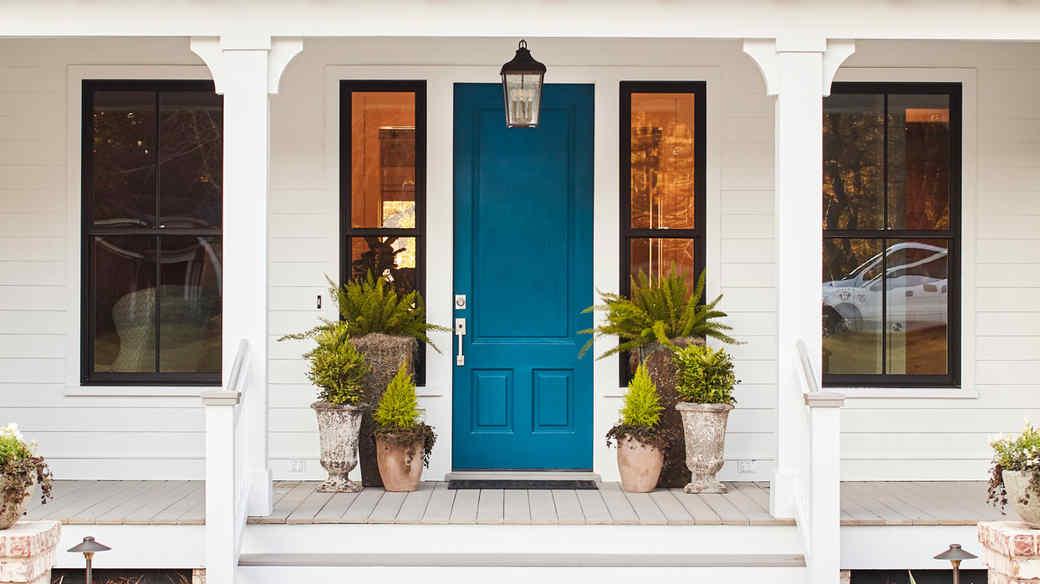 Bright Blue Front Door