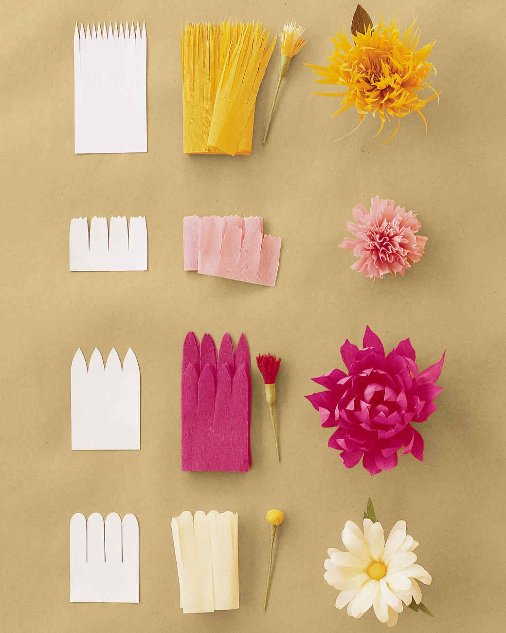 Crepe paper rose template youtuf how to make crepe paper flowers martha stewart dhlflorist Images