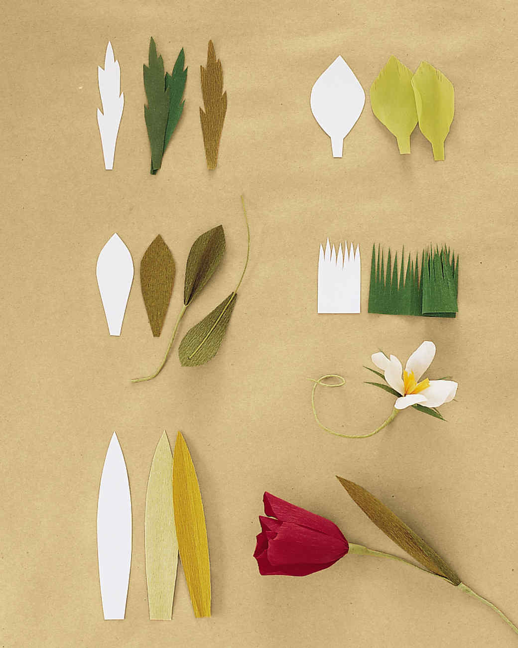 How to make giant bendable paper flowers stems