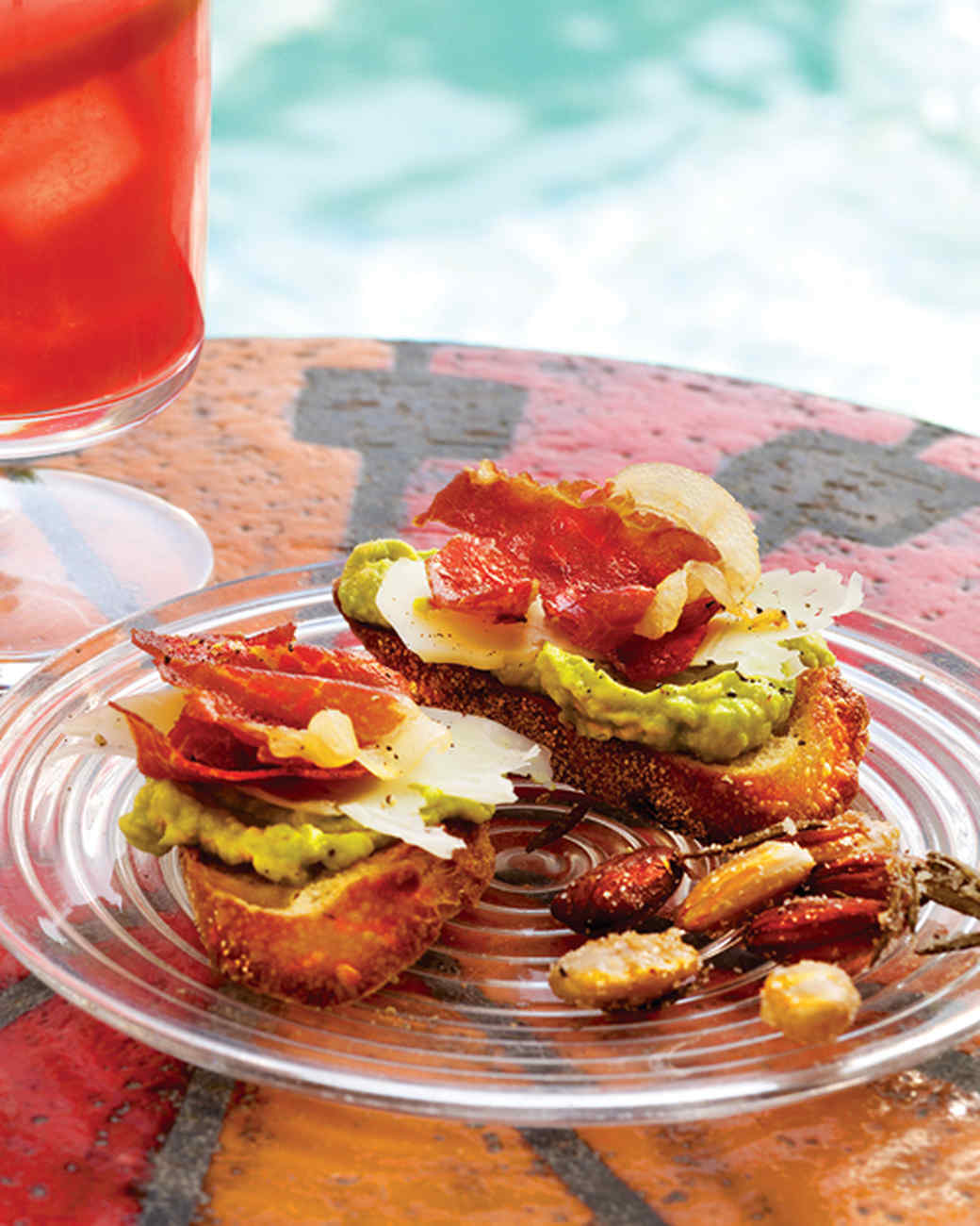 Crisped-Prosciutto and Avocado Crostini