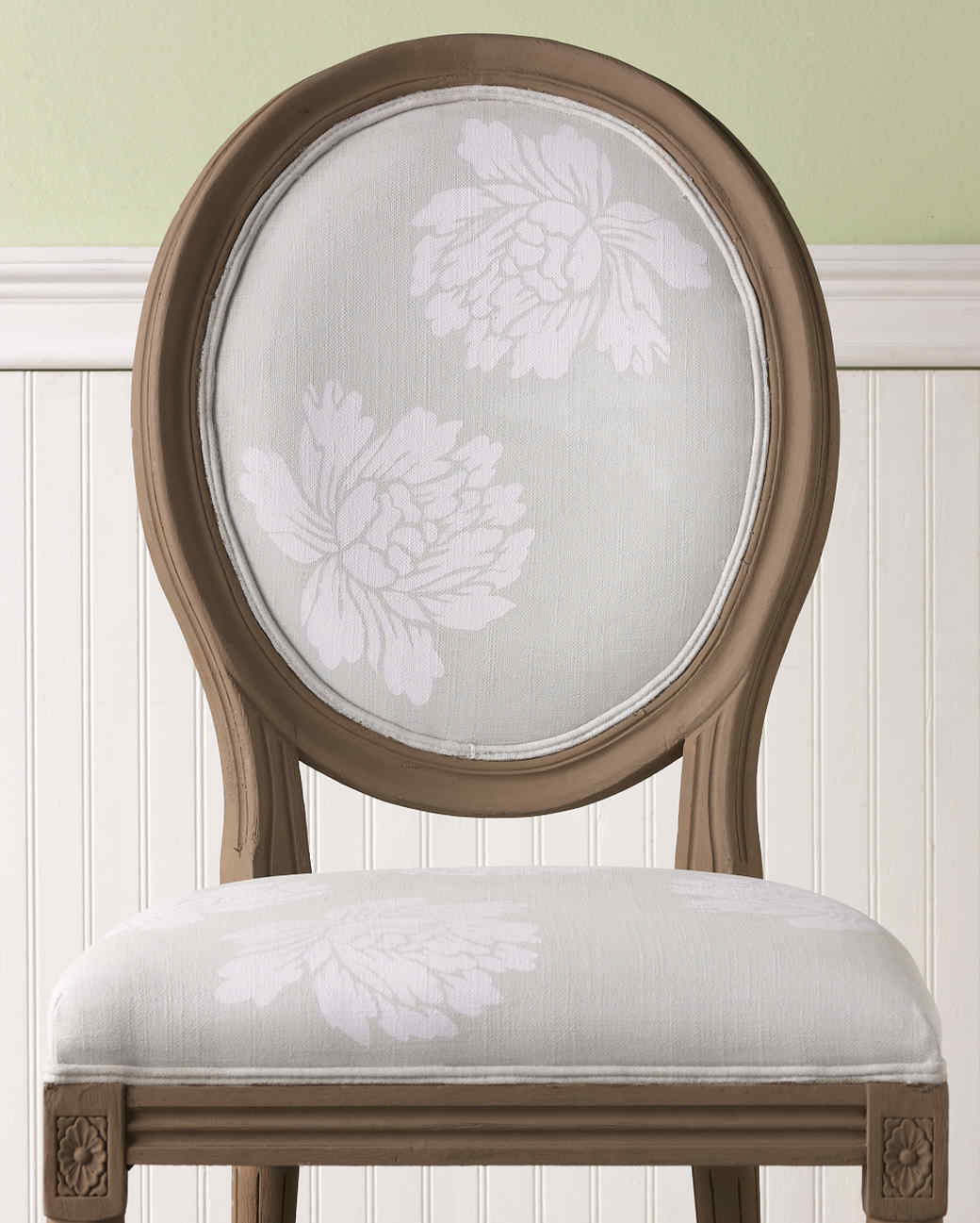 Floral stenciled dining chair martha stewart - Martha stewart dining room furniture ...