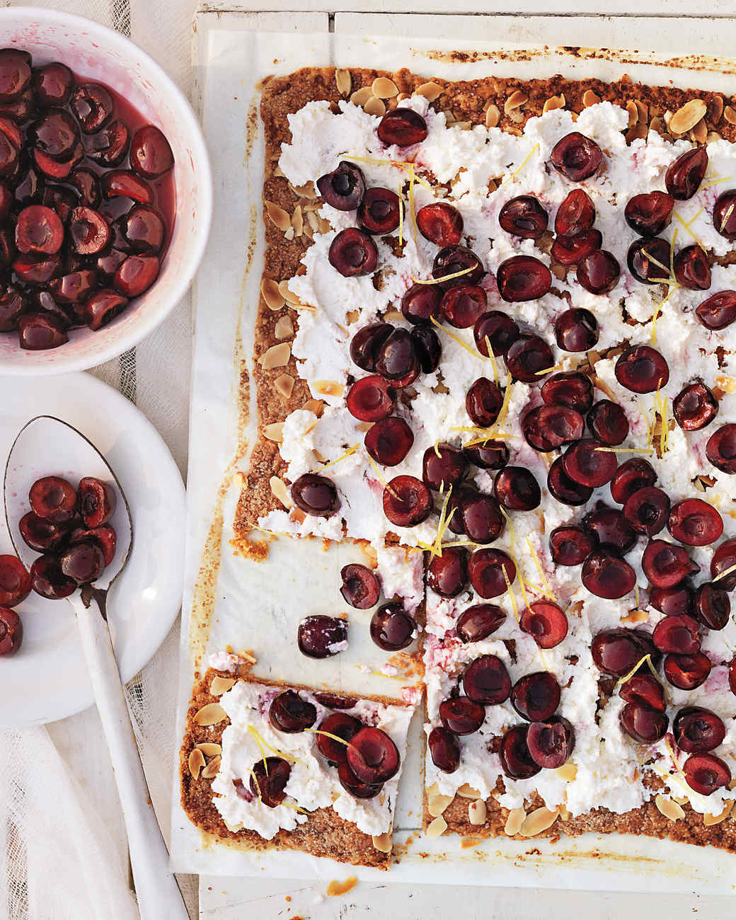Rustic Cherry Tart with Ricotta and Almonds