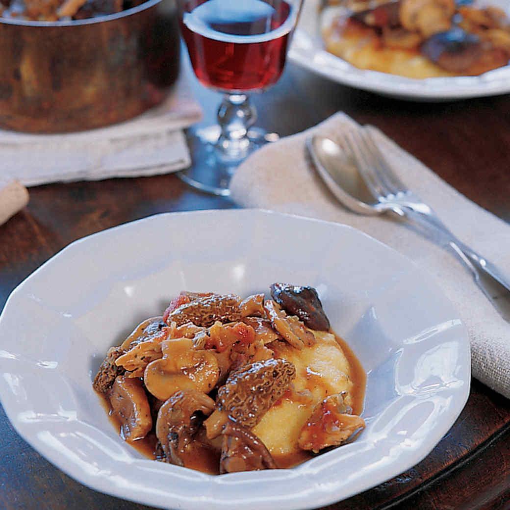 Wild-Mushroom Ragu with Polenta