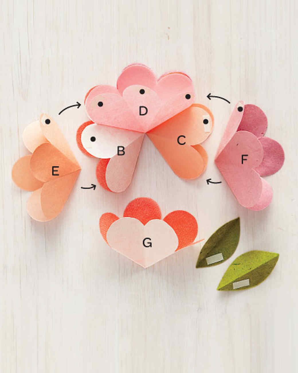 pop up flower card instructions