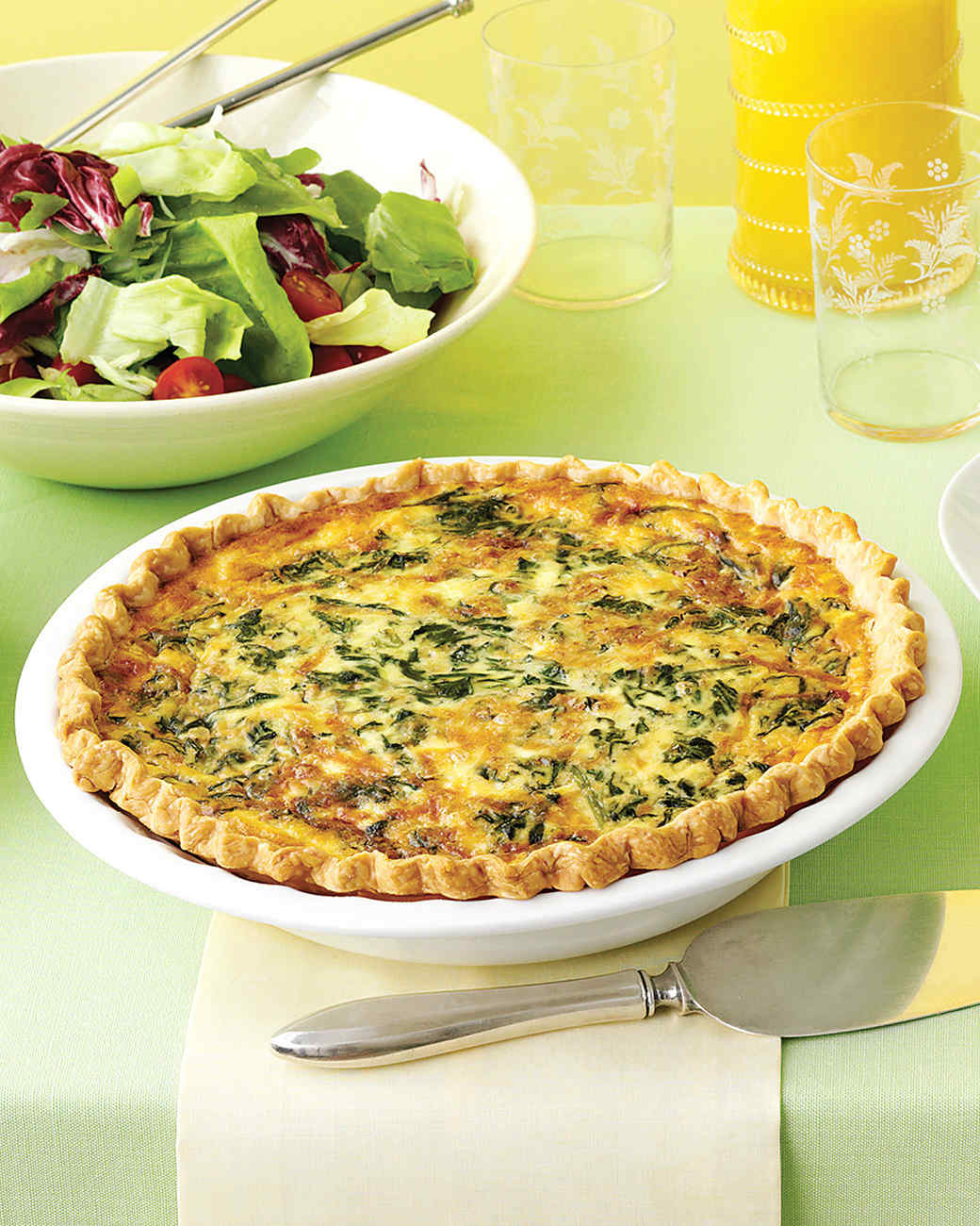 Chicken Broccoli Cheese Quiche Recipe