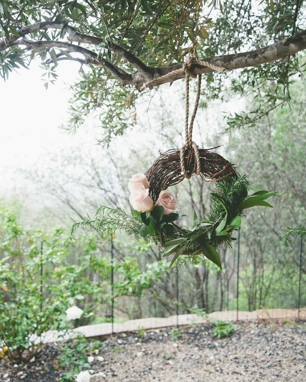 sweet laurel retreat tree hang flower wreath